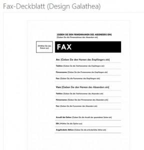 fax vorlage fax deckblatt faxvorlage zum herunterladen