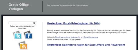 Gratis-Office-Vorlagen
