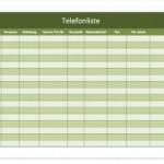 Telefonliste-Telefonverzeichnis-Vorlage