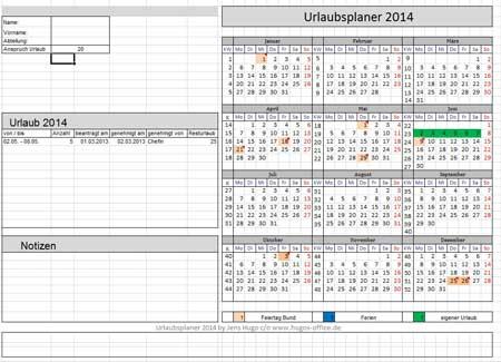 Urlaubsplaner-Excel-Vorlage