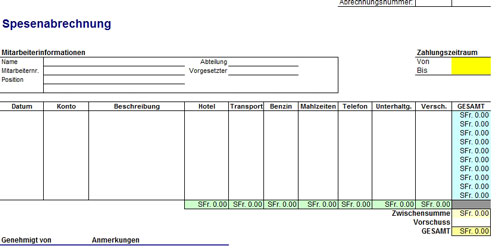 Vorlage-Spesenabrechnung-Excel-kostenlos